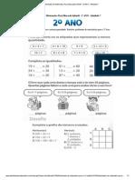 Atividades de Matematica Para Educação Infantil - 2º ANO - Atividade 7