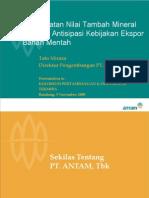 Presentasi to Puslibang(Nov 2008) PT. ANTAM