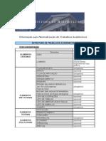 Estrutura - trabalhos acadêmicos