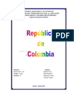 Creacion de La Republica de Colombia