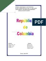 Creacion de La Republica de Colombia