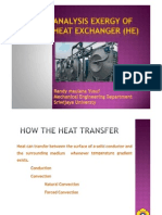 Analysis Exergy of Heat Exchanger (Aehe)