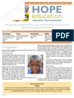 HopeEd  Monthly Newsletter July 2013