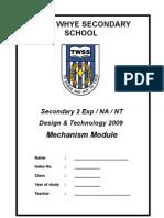 Sec 2 Mechanism Notes for Students 2009 Sem2