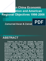 Pakistan China Economic Cooperation and American Regional Objectives(1998-2008