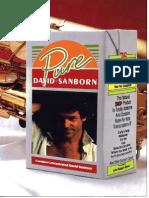 David Sanborn [Pure David Sanborn] - BOOK