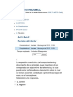 Quiz 2 Mantenimiento Industrial