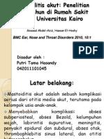 Penelitian tentang Mastoiditis Akut