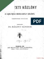 Méhészeti Közlöny 1900/1