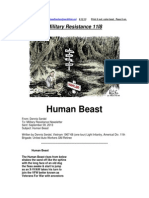 Military Resistance 11I8 Human Beast