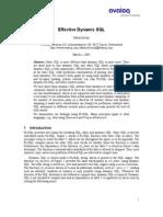 Effective Dynamic SQL