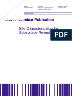 Site Characterization for Subsurface Remediation