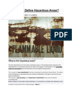 How Do We Define Hazardous Areas