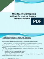 Metode Activ Participative Utilizate in Orele de Limba Romana