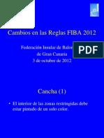 Cambios en Las Reglas FIBA 2012