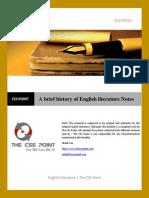 a brief history of english literature notes - Zusammenfassung English
