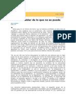 Gelman, Juan - Hablar de Lo Que No Se Puede (Sobre Coetzee)