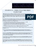 Exodus 12 - When was the First Passover?