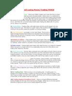 45 Ways to Avoid Losing Money Trading FOREX
