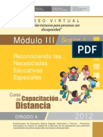 Mód. III - Sesión 1- Reconociendo las necesidades educativas especiales.