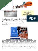 Confira as 268 vagas de trabalho oferecidas pelo Sine Paraíba nesta terça