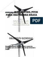 Diseño de un control pitch para una turbina
