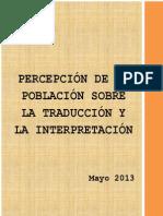 Percepción de la población sobre la traducción y la interpretación