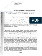 Transmission Unavailability of Frequency Diversity Protected Microwave FM Radio Systems Caused by Multipath Fading