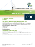 Communicable Disease Threats Report 14 Sep 2013