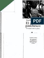 7032374 Ludmer Josefina El Genero Gauchesco Un Tratado Sobre La Patria