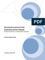 Statistica Aplicata in Stiintele Socio-umane. Volume 2 (Romanian)