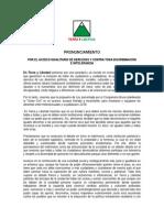 Pronunciamiento Por Igualdad de Derechos - 16.Set.2013
