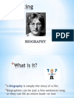 Level 3 - Writing a Biography