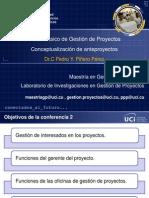 2013 09 02 CD GAL TEMA 1 CONFERENCIA 2 Anteproyecto Enfoque Marco Logico