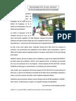 123 TÍTULOS ENTREGARÁ DRA PASCO EN OXAPAMPA