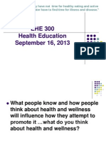 EHE 300 - Powerpoint Monday, September 16