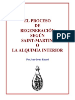Jean Louis Ricard El Proceso de Regeneracion Segun Saint Marti o La Alquimia Interior