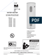 Power-Miser 12 Water Heater Manual