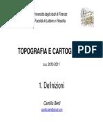 Camillo Berti Note Sulla Topografia