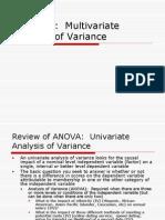 MANOVA - Analysis
