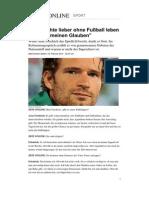 Arne Friedrich Glaube Fussball Gott
