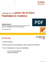 HS Conference 2012 Tech - Control de Fatalidades - William Henott (Codelco) SPANISH