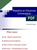 Presentación Maestría en Docencia Universitaria
