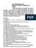 Staricov Valery Vladimirovich Personality Types Complete Version of Text
