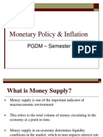 Monetary Policy Inflation