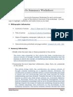 Article Summary Worksheet - Smith & Jones