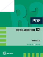 B2 Modellsatz Deutsch Goethe