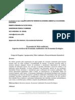 ECONOMIA DO MEIO AMBIENTE  ECONOMIA AMBIENTAL E ECONOMIA ECOLÓGICA