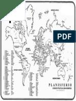 Planisferio Del Mundo Con Nom. y Divicion Politica