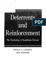 Deterrents and reinforcements by Leon Festinger